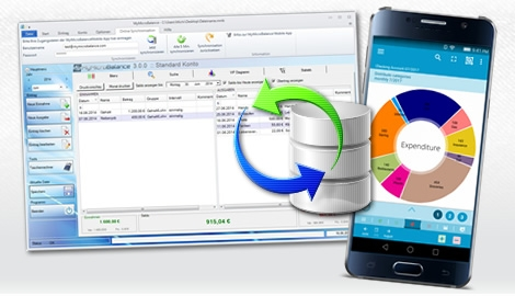 Sync your expenses between PC and Smartphone