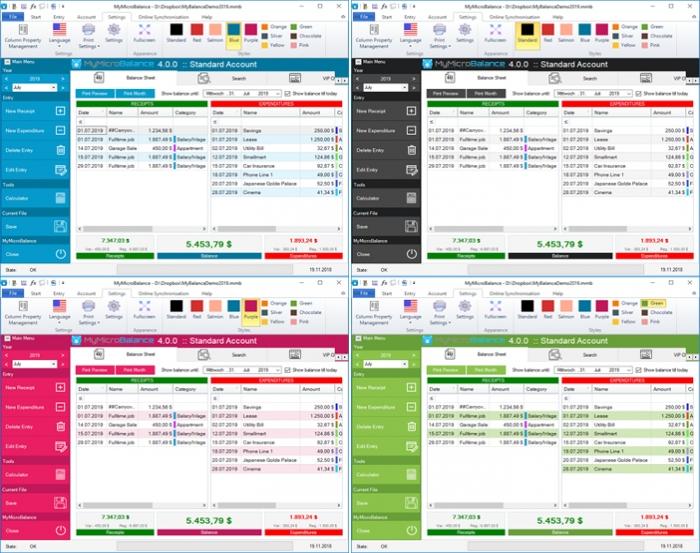 budget planner colors